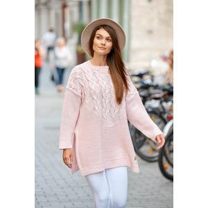 Světle růžový pulovr LS309