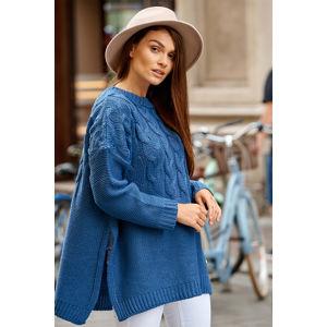 Modrý pulovr LS309