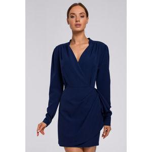 Tmavě modré šaty M531
