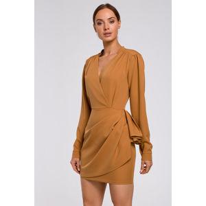 Skořicové šaty M531
