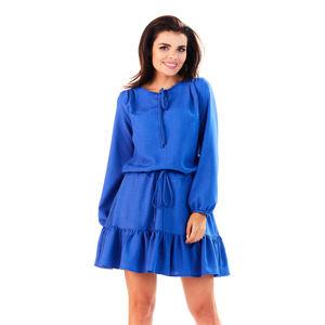 Modré šaty M143
