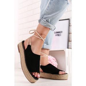 Černé platformové sandály Siera