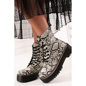 Béžové kotníkové boty Flavia