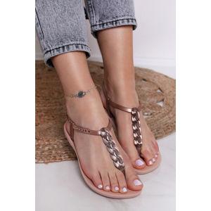 Růžové sandály Charm VI