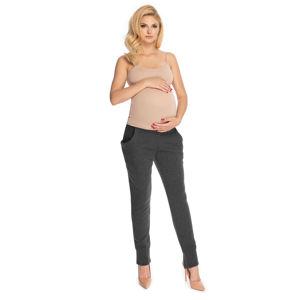 Tmavě šedé těhotenské teplákové kalhoty 0175