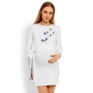 Bílé těhotenské šaty 1624C