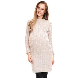 Světle hnědé těhotenské šaty 40026