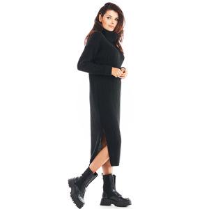 Černé svetrové šaty A394