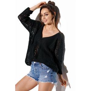 Černý pulovr LS281