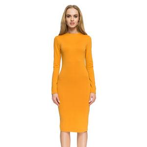 Žluté šaty S033