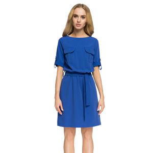 Modré šaty S029