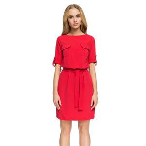 Červené šaty S029