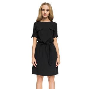 Černé šaty S029