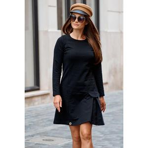 Černé šaty L346