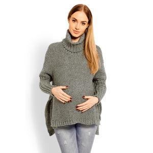 Zelený těhotenský pulovr 60002C