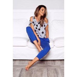 Modro-šedé pyžamo Stary