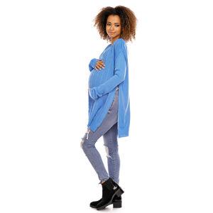 Modrý těhotenský pulovr 70007C