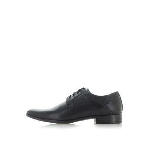 Pánské černé kožené boty Aston