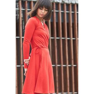 Červené šaty B092