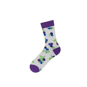 Dámské šedo-fialové ponožky Blueberries