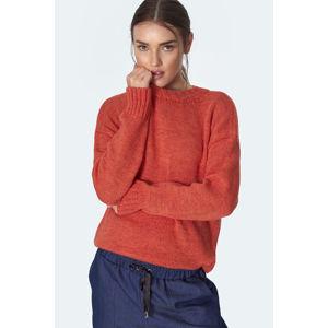 Oranžový pulovr SW08
