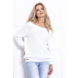 Bílý pulovr F709
