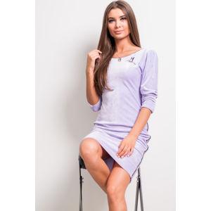 Světle fialové velurové šaty 147-03