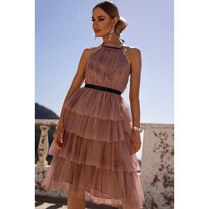 Hnědé midi šaty Zoya