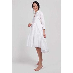 Bílé bavlněné šaty Ilere