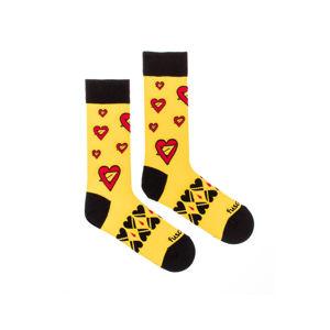 Žluté ponožky Seman Srdce