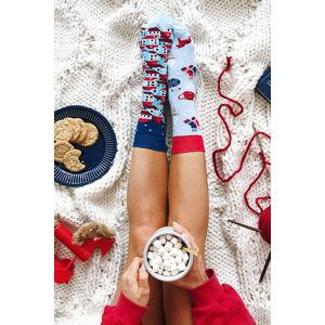 Modro-červené ponožky Hygge