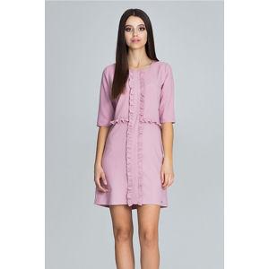 Světle růžové šaty M618