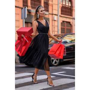 Černé midi šaty Paris