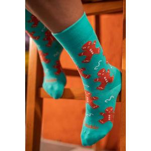 Tyrkysové ponožky Overbaked