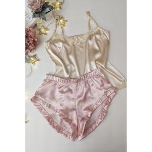 Světle růžovo-béžový pyžamový set Joy set 001