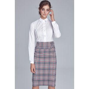 Vícebarevná károvaná sukně SP46