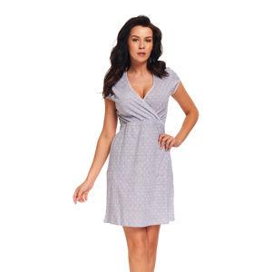 Světle šedá těhotenská noční košile TCB9394