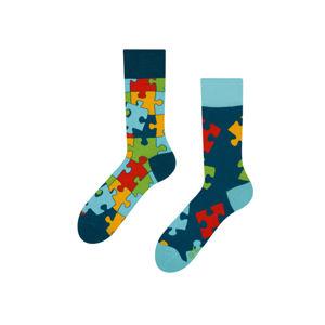 Vícebarevné ponožky Puzzle
