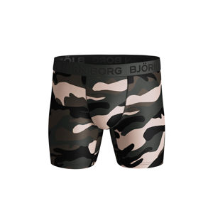 Černo-zelené boxerky Peaceful Performance Shorts