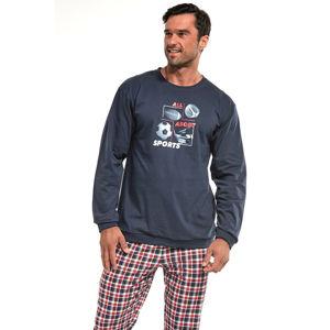 Pánské modro-červené pyžamo Sport