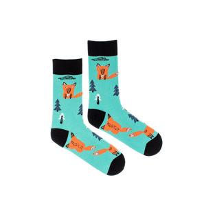 Tyrkysovo-oranžové ponožky Fox