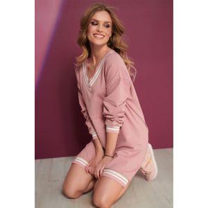 Růžové šaty NU298