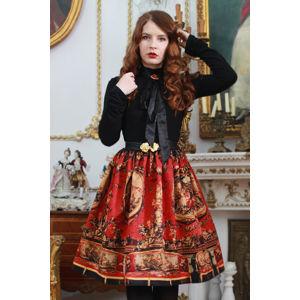 Červená vzorovaná midi sukně Red Carpet