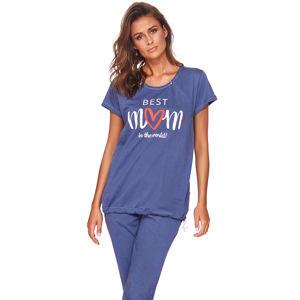 Modré těhotenské pyžamo PCB9901
