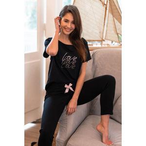 Černý pyžamový set Catalina