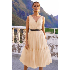 Světle béžové šaty Paris