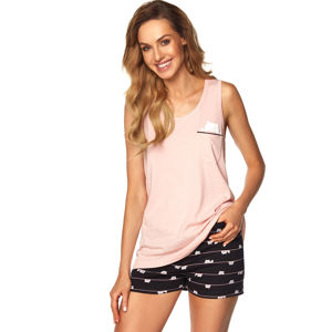 Růžový krátký pyžamový set Daisy