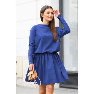 Modré šaty L348