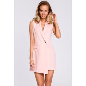 Růžové šaty MOE M439