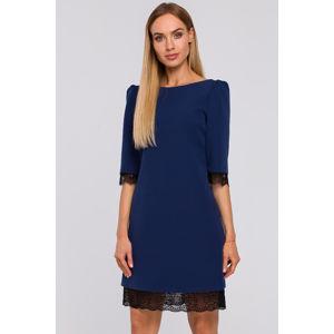 Tmavě modré šaty M489